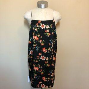 Topshop floral spaghetti strap mini dress